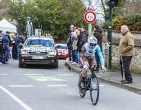The Cyclist Cyril Gautier - Paris-Nice 2016 Stock Images