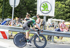 The Cyclist Cyril Gautier - Tour de France 2014 Stock Photography