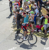 The Cyclist Damiano Caruso on Col du Glandon - Tour de France 20 Stock Photography