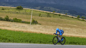 The Cyclist Daniel Martin. Chorges, France- July 17, 2013: The Irish cyclist Daniel Dan Martin from Garmin-Sharp Team pedaling during the stage 17 of 100th Royalty Free Stock Photos