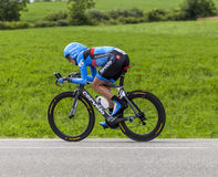 The Cyclist Daniel Martin. Chorges, France- July 17, 2013: The Irish cyclist Daniel Dan Martin from Garmin-Sharp Team pedaling during the stage 17 of 100th Stock Photo