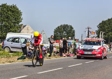 The Cyclist Daniel Navarro Garcia Royalty Free Stock Photos