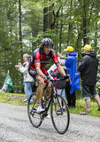The Cyclist Daniel Oss Climbing Col du Platzerwasel - Tour de Fr Royalty Free Stock Images