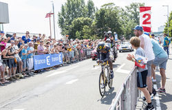 The Cyclist Daniel Teklehaimanot - Tour de France 2015 Stock Photos