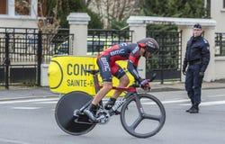 The Cyclist Danilo Wyss - Paris-Nice 2016 Stock Photography