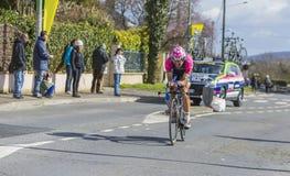 The Cyclist Davide Cimolai - Paris-Nice 2016 Royalty Free Stock Image