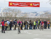 The Cyclist Davide Cimolai - Tour de Catalunya 2016 Stock Photography