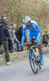 The Cyclist Delio Fernandez Cruz - Paris-Nice 2016 Royalty Free Stock Photos