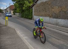 The Cyclist Dion Smith - Criterium du Dauphine 2017 Royalty Free Stock Image