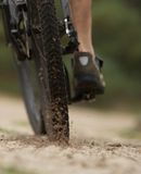 Cyclist on dirt trail Stock Photos