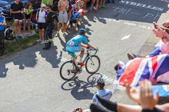 The Cyclist Dmitriy Gruzdev  on Col du Glandon - Tour de France Royalty Free Stock Image