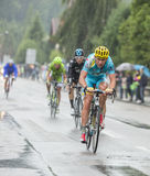 The Cyclist Dmitriy Gruzdev - Tour de France 2014 Stock Image