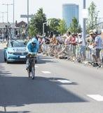 The Cyclist Dmitriy Gruzdev - Tour de France 2015 royalty free stock image