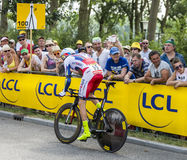 The Cyclist Dmitry Kozonchuk - Tour de France 2015 Royalty Free Stock Photography