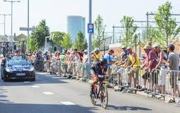 The Cyclist Dominik Nerz - Tour de France 2015 Royalty Free Stock Photos