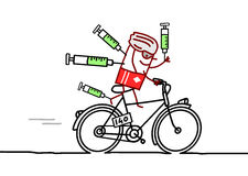 Cyclist & doping Royalty Free Stock Photos