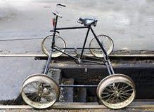 Cyclist draisine Stock Images