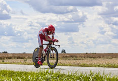 The Cyclist Eduard Vorganov Stock Photography