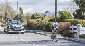 The Cyclist Edward Theuns - Paris-Nice 2016 Stock Images
