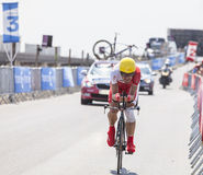 The Cyclist Egoitz Garcia Stock Photo