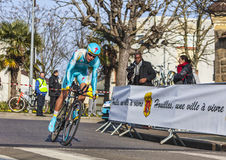 The Cyclist Egor Silin- Paris Nice 2013 Prologue i Royalty Free Stock Photography