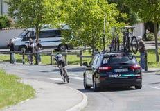 The Cyclist Emanuel Buchmann - Criterium du Dauphine 2017 Royalty Free Stock Photo