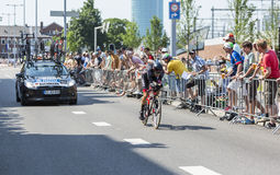 The Cyclist Emanuel Buchmann - Tour de France 2015 Stock Photography