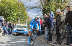 The Cyclist Evaldas Siskevicius - Paris-Nice 2016. Conflans-Sainte-Honorine,France-March 6,2016: The Lithuanian cyclist Evaldas Siskevicius of Delko-Marseille Stock Photography