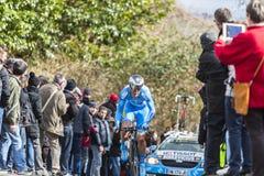 The Cyclist Evaldas Siskevicius - Paris-Nice 2016 Stock Photography