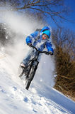 Cyclist extreme riding Stock Photography