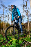 Cyclist extreme riding Royalty Free Stock Images