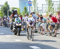 The Cyclist Fabian Cancellara - Tour de France 2015 Royalty Free Stock Image