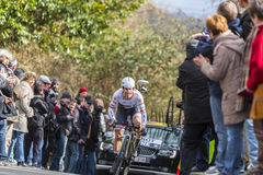 The Cyclist Fabio Felline - Paris-Nice 2016 Stock Photos