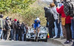The Cyclist Fabio Sabatini - Paris-Nice 2016 Royalty Free Stock Image