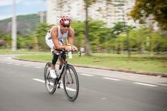 Cyclist at Flamengo Park (aterro do Flamengo) royalty free stock photo