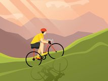 Cyclist Flat Poster Stock Photography