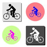 Cyclist. flat vector icon stock illustration