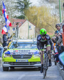 The Cyclist Florian Vachon - Paris-Nice 2016 Stock Images