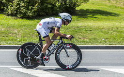 The Cyclist Florian Vachon Stock Images