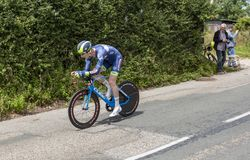 The Cyclist Frederik Backaert - Criterium du Dauphine 2017 Royalty Free Stock Photos