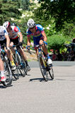 Cyclist at Front of Peloton in Stillwater Stock Image