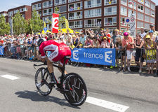 The Cyclist Geoffrey Soupe - Tour de France 2015. Utrecht,Netherlands - 04 July 2015: The French cyclist Geoffrey Soupe of Cofidis Team riding during the first Royalty Free Stock Images