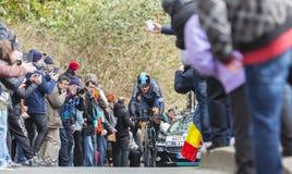 The Cyclist Geraint Thomas - Paris-Nice 2016 Stock Photo