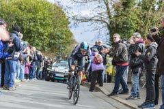 The Cyclist Geraint Thomas - Paris-Nice 2016 Stock Image