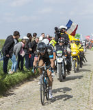 The cyclist Geraint Thomas - Paris Roubaix 2014 Royalty Free Stock Photos