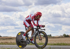 The Cyclist Giampaolo Caruso Stock Image