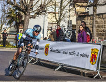 The Cyclist Gianni Meersman- Paris Nice 2013 Prolo Royalty Free Stock Image