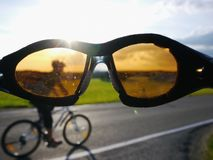 Cyclist glasses Royalty Free Stock Photography