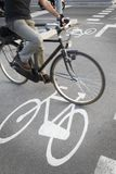 Cyclist going on the bicycle Stock Photo