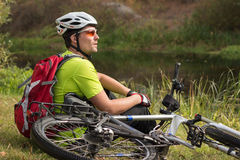 Cyclist. Royalty Free Stock Images